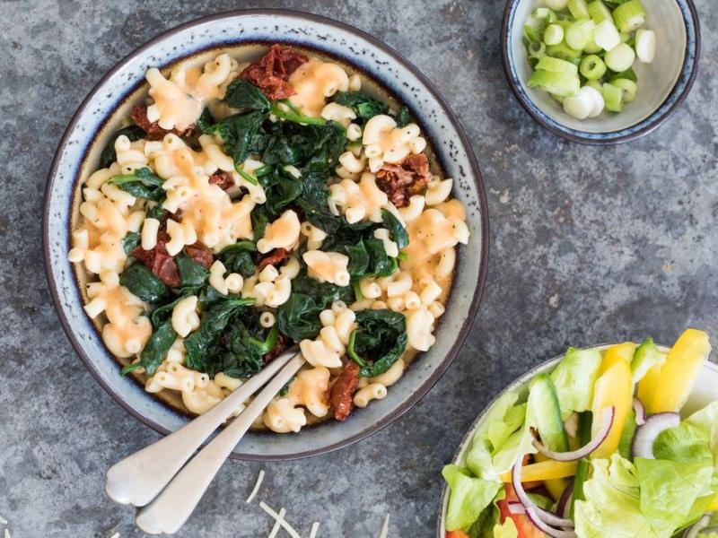 Recept voor vegetarische mac and cheese op Amerikaanse wijze