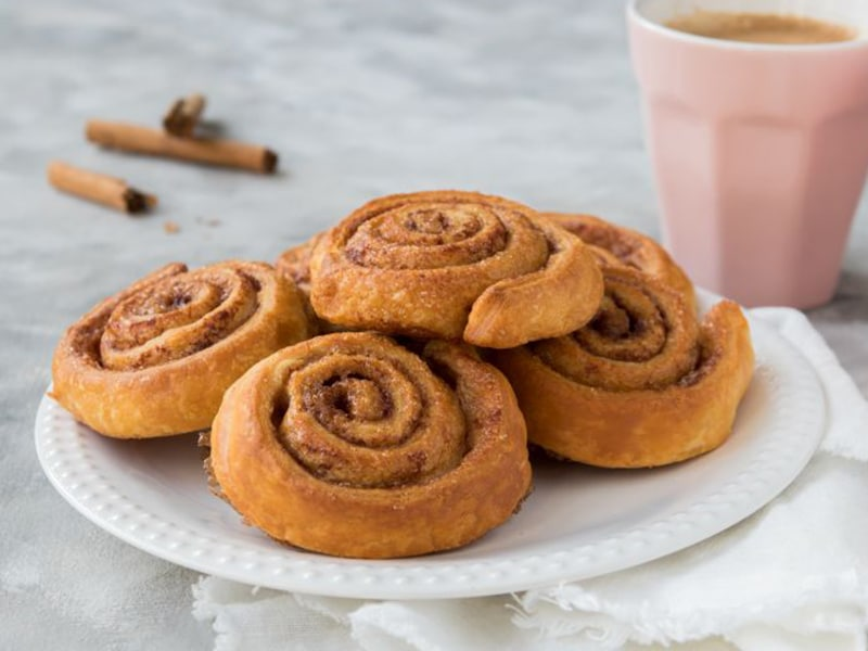 Recept snelle cinnamonrolls van croissantdeeg