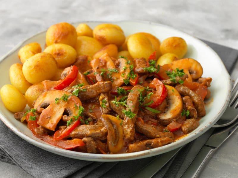 Recept voor beef stroganoff met paprika