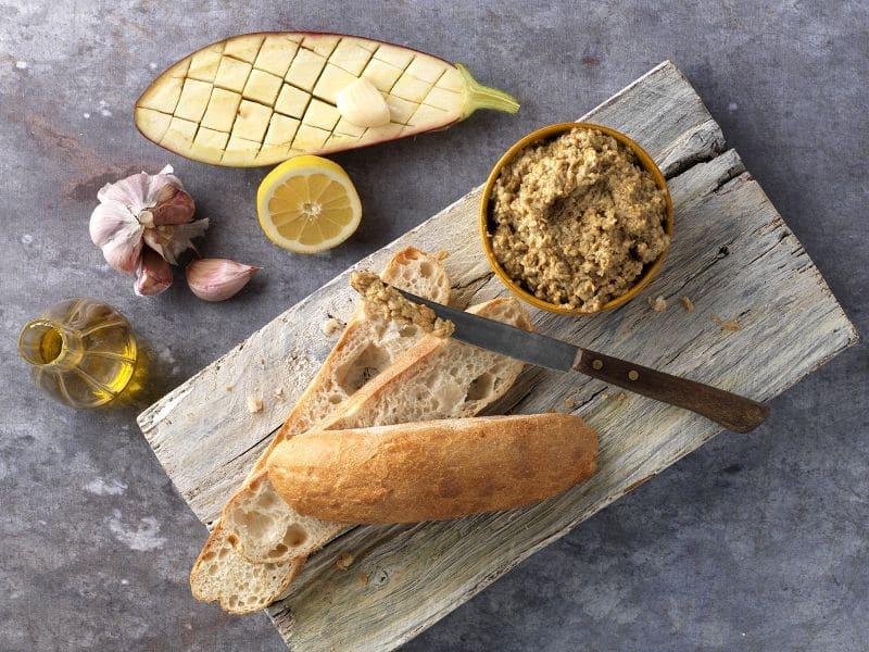 Recept Midden-Oosterse mezze van aubergine