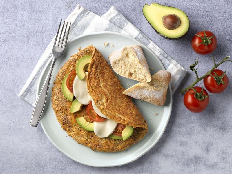 Recept omelet met avocado en tomaat