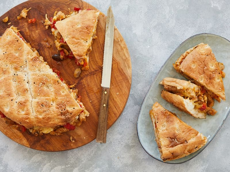 Recept turks brood gevuld met shoarma