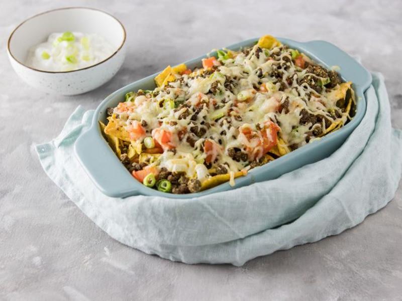 Recept voor nacho's met vegetarisch gehakt