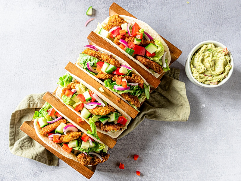 Recept voor wraps met krokante kip en guacamole
