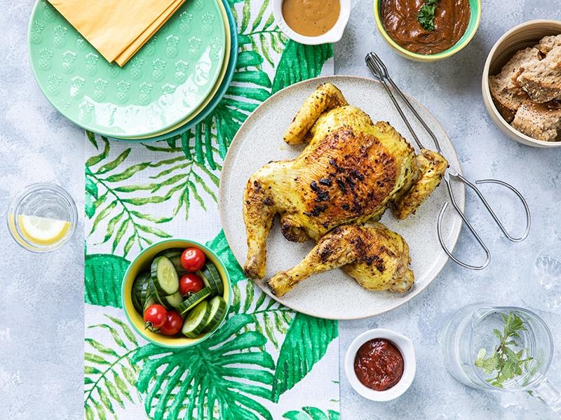 Recept voor hele kip van de BBQ