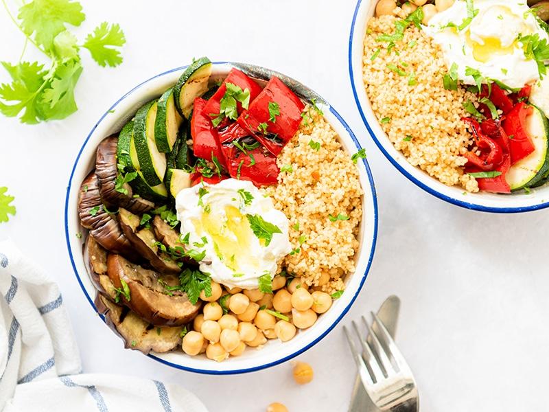 Recept voor couscous met gegrilde groenten