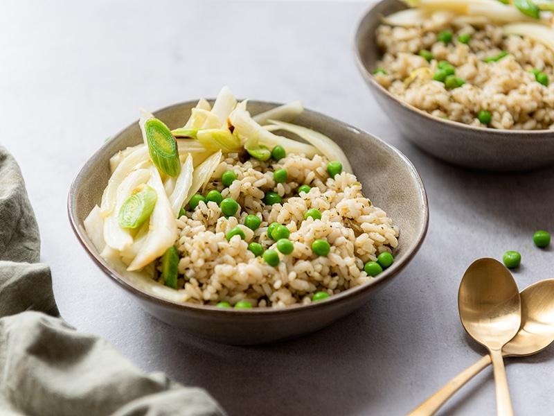 Recept voor vegetarische voorjaarsrisotto