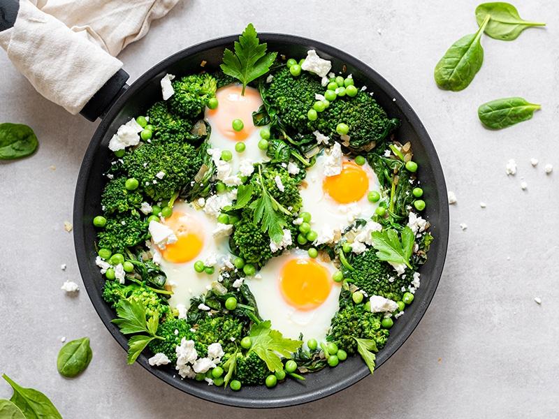Recept voor groene shakshuka