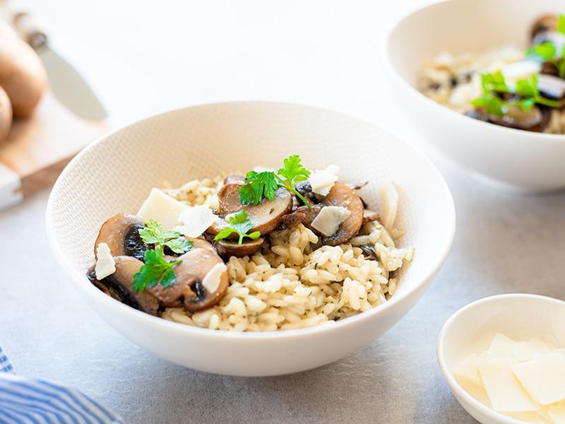 Recept voor romige risotto met champignons