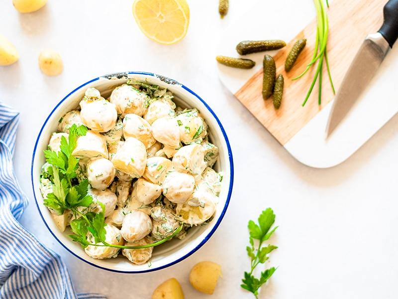 Recept voor zomerse aardappelsalade