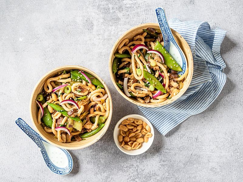 Recept voor vegetariche Japanse wok