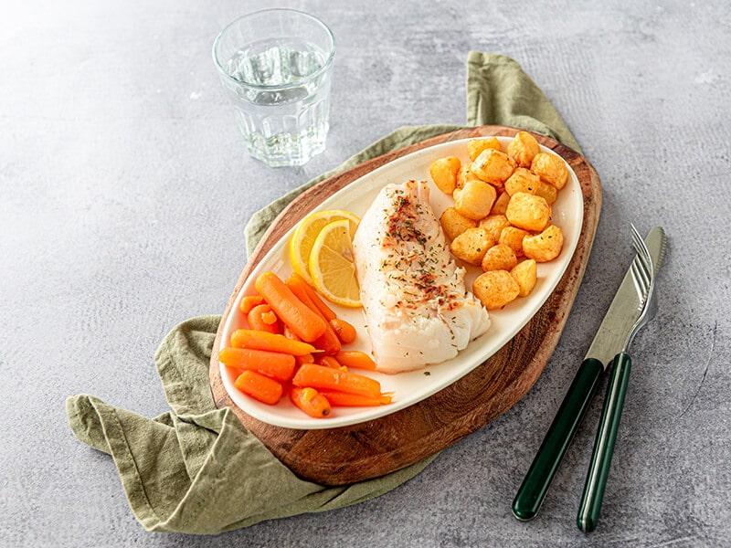 Recept voor witvis met gebakken krieltjes en worteltjes
