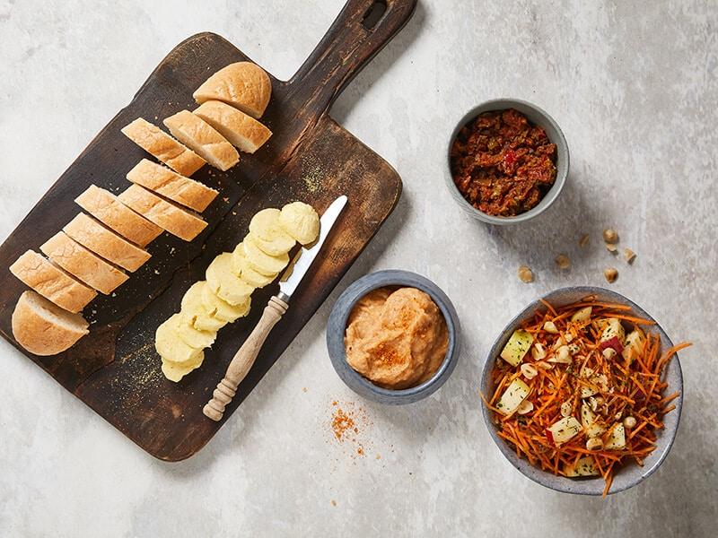Recept voor stokbrood met dips