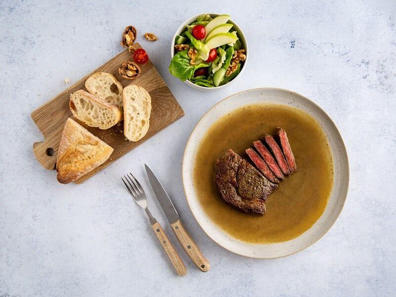Steak-en-jus